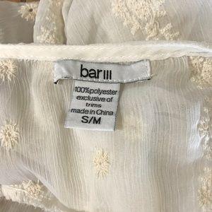 Bar III Tops - Bar III Embroidered Cream and White Poncho